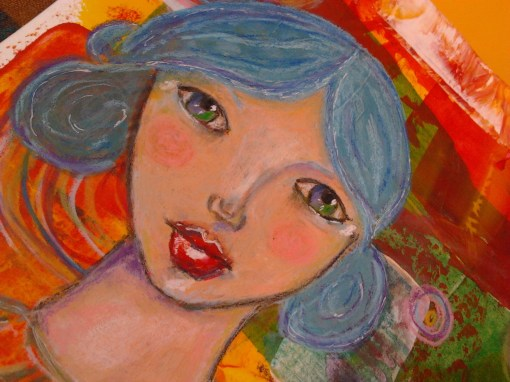 Blue beautiful girl - @ http://creativemag.ro by Cristina Parus