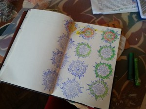 stampile 3D cu flori - art journal by Cristina Parus @ creativemag.ro