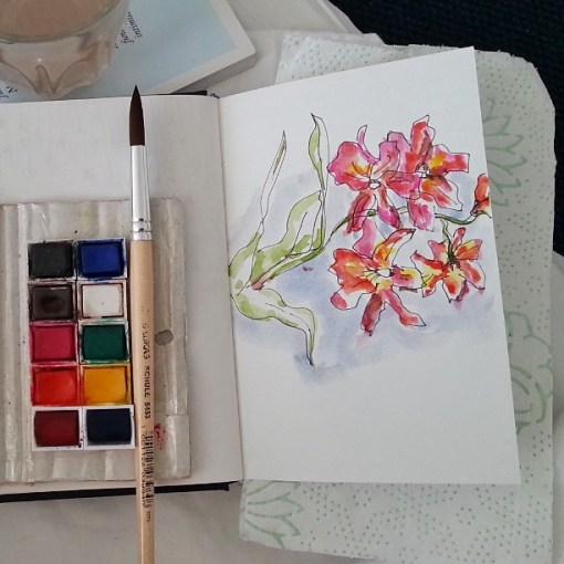 flori in acuarela