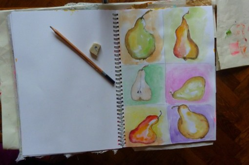 Watercolor pears by Cristina Parus @ creativemag.ro