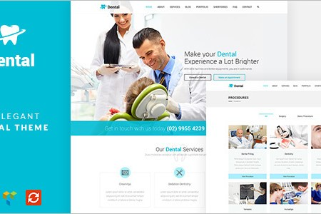 dental healthcare wordpress template
