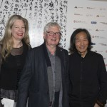 Rhana Devenport and Rob Gardiner with Wang Dongling