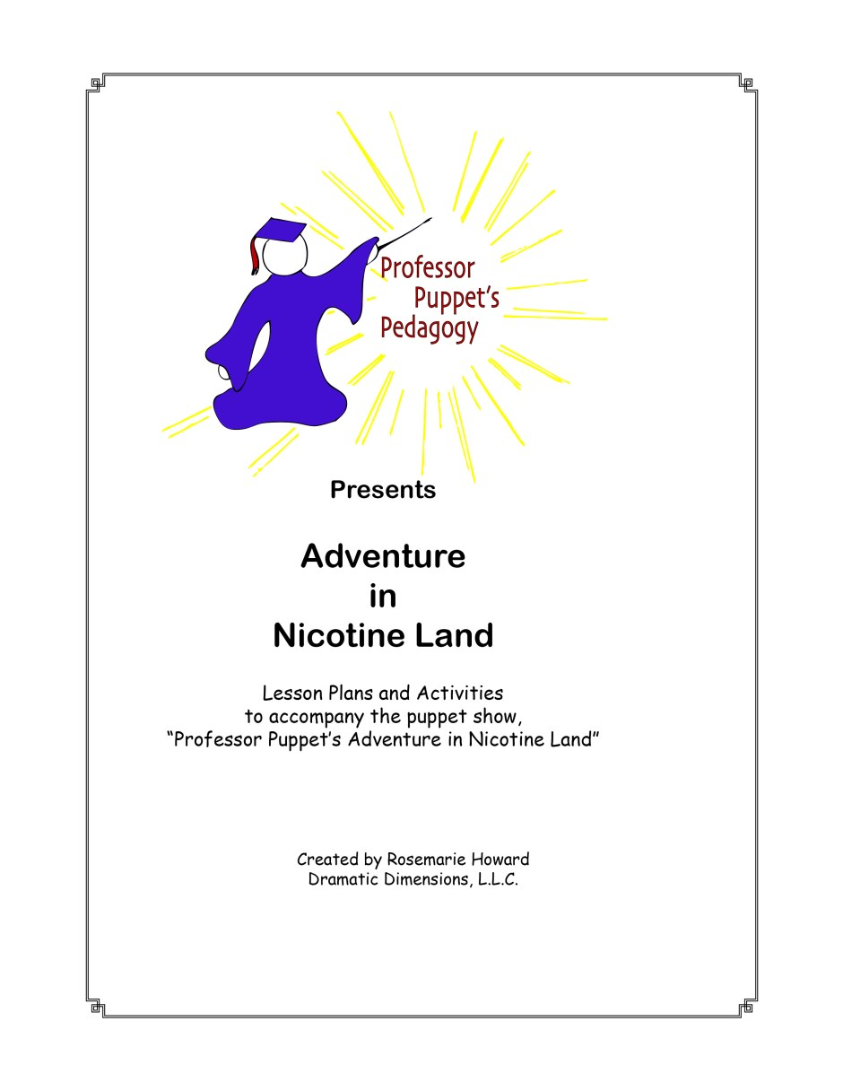 Adventure in Nicotine Land (Downloadable Script)