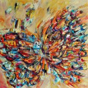 butterfly oil painting