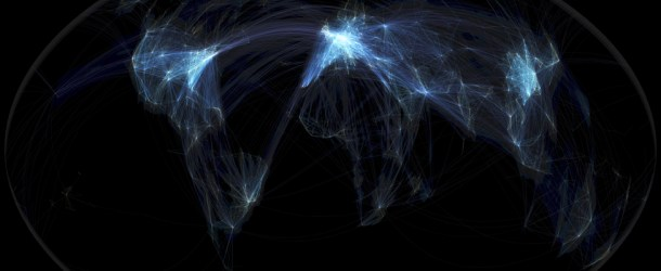 Global Flight Paths That Light Up The World