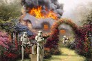 Star Wars Characters In Thomas Kinkade Paintings