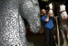 Timelapse of Andy Scott's Giant Steel Horse Statues
