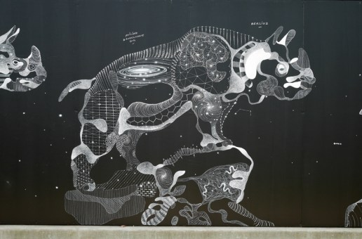 Chalk and Oil Pastel Animal Murals by Philippe Baudelocque