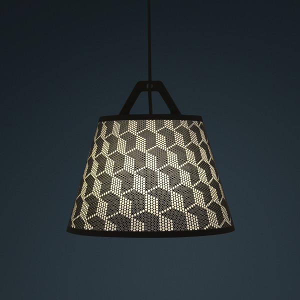 laser stitched lampshade 6