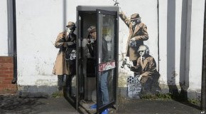 Banksy Cheltenham Spy Booth artwork 'to be removed' and sold at auction