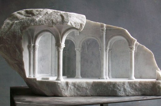 Miniature Medieval Interiors Carved into Marble Blocks