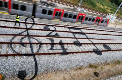 Railway Street Art by Bordalo II