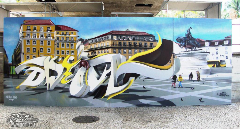 3D-graffiti-letters-standing-on-Praça-da-figueira-Sao-Paulo-Brasil