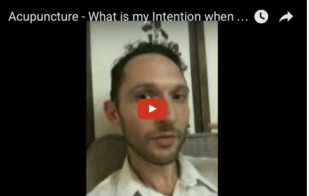 Richard Brook 5 Elements Acupuncture Treatment Intention in London