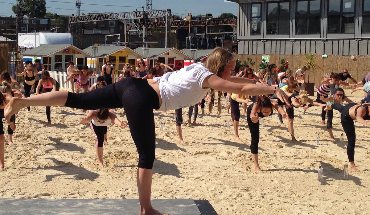 Creative Yoga with Richard Brook at Camden Roundhouse Beach