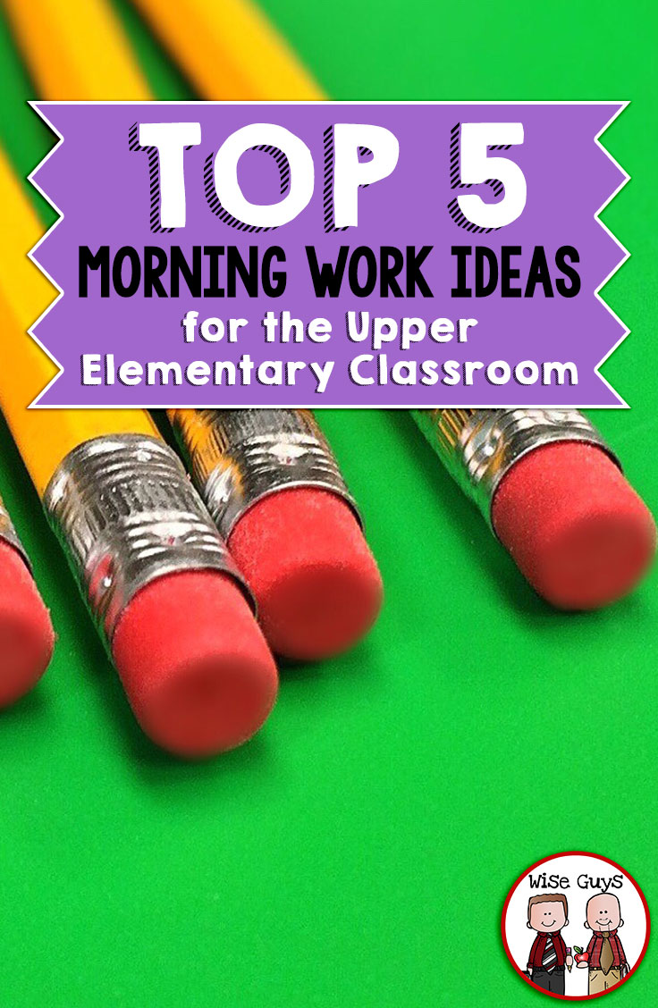 Mornings are always rough in elementary school. Over the years we've honed our routines and have found that these top morning work ideas for the upper elementary classroom make a world of difference! Start your students' days off on the right foot with these routines.