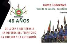 Convocatoria Junta Directiva Regional de Cabildos del CRIC, en el marco de la conmemoración de los 46 años de lucha y resistencia en defensa del Territorio, la Cultura y la Autonomía