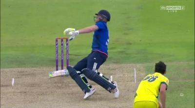 Ben Stokes given a controversial out during England Vs Australia