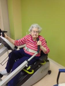 Mom exercising