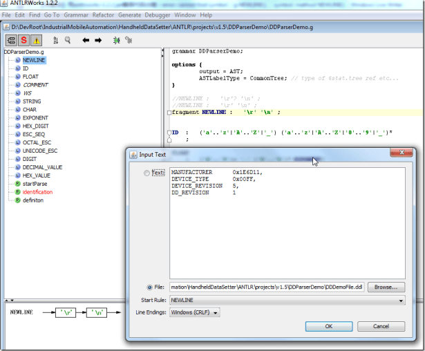can debug after add fragment for newline
