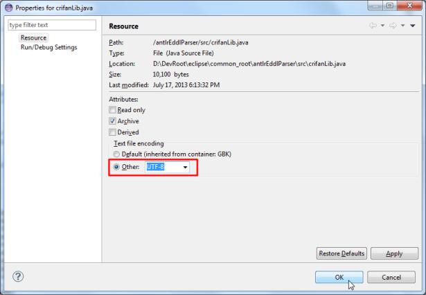 change to utf8 encoding