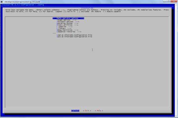 nt-ng menuconfig