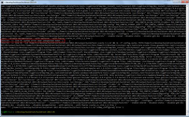 bin sh c line 0 syntax error near unexpected token
