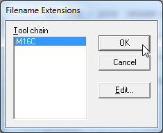 iar menu tools filename extensions