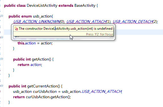 The constructor DeviceListActivity.usb_action(int) is undefined