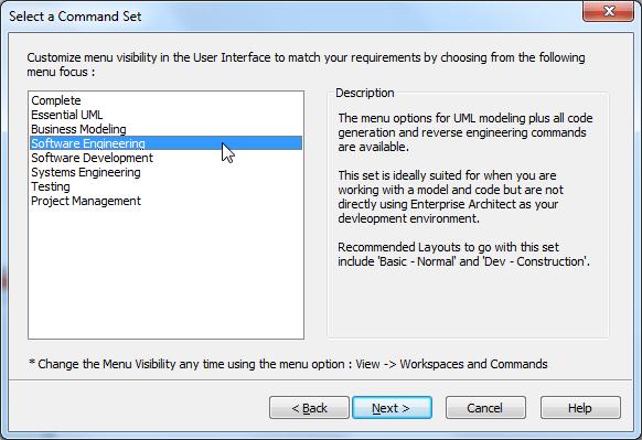 ea select a command set software engineering