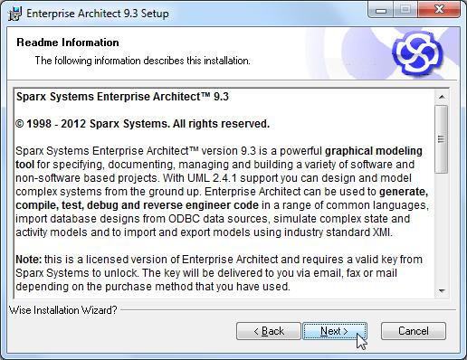 enterprise architect 9.3 setup readme information