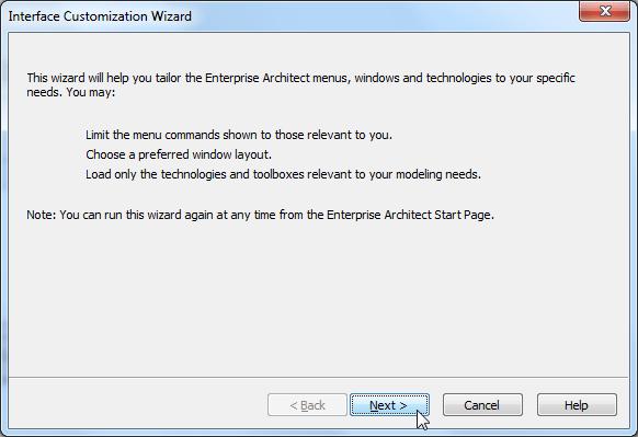 interface customization wizard for ea