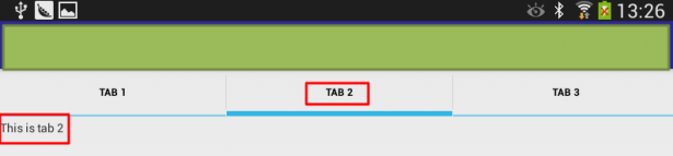 android added tab of tab 2