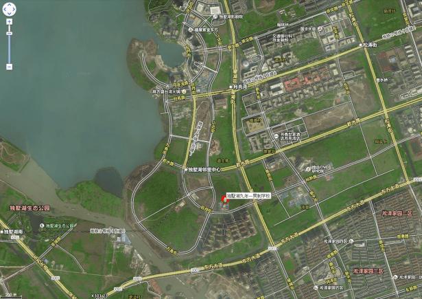 dushuhu lake school location satellite view