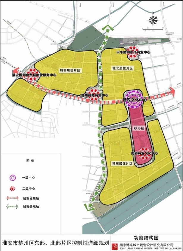 huaian chuzhou east north control planning function structure map
