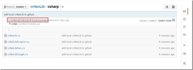 now github project user not crifan but complext