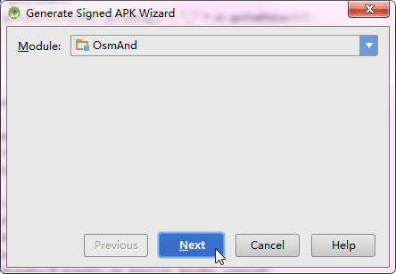 generate singed APK wizard for osmand