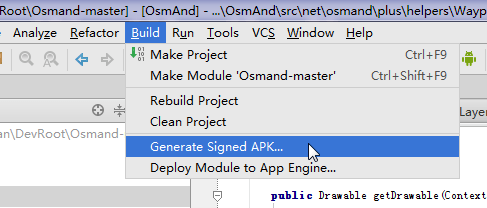 try build generate singed APK