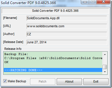 patching done for solid converter pdf