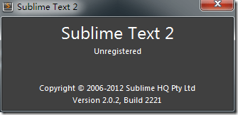 current sublime text is version 2