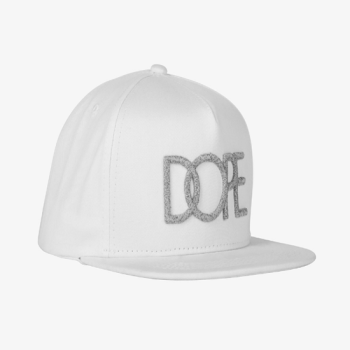 DOPE COUTURE Reflective Logo Snapback White
