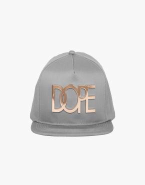 DOPE COUTURE 24K Gold Logo Snapback Grey