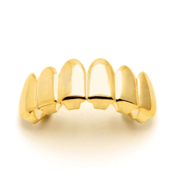 King Ice 14K Gold Plain Top Grillz