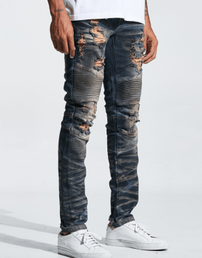 EMBELLISH NYC Braxton Biker Denim