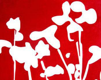 Florecillas V en negativo