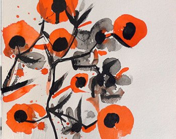 Flores Naranjas redondas
