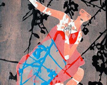 Kiyoshi dancer monotipo
