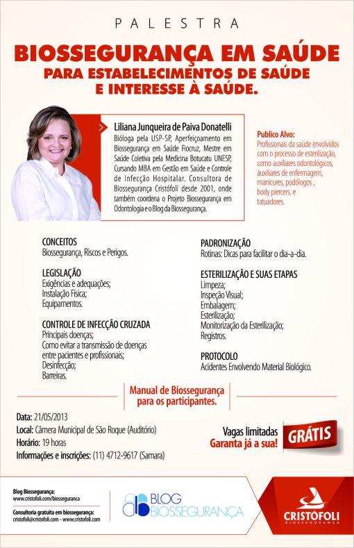 Palestra para Profissionais da Saúde e de Interesse à Saúde - São Roque Gratuita