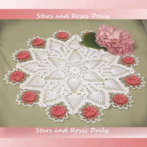 Stars and Roses Doily