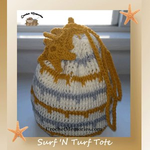 shop.crochetmemories.com - Surf 'N Turf Tote Pattern